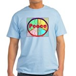 Abstract Peace Sign Light T-Shirt