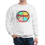 Abstract Peace Sign Sweatshirt