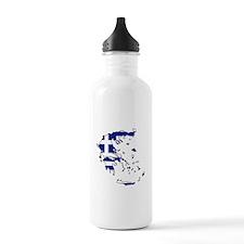 Greek Flag Map Water Bottle