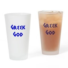 Greek God Drinking Glass