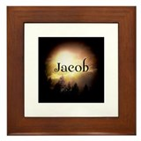 Jacob Twilight Forks Framed Tile