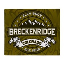 Breckenridge Olive Throw Blanket