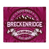 Breckenridge Raspberry Throw Blanket