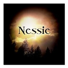 "Nessie Twilight Forks Square Car Magnet 3"" x 3"""