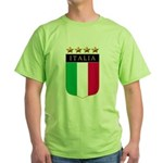 Italian 4 star FLAG(white).png Green T-Shirt