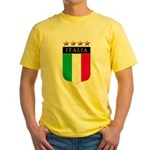 Italian 4 star FLAG(white).png Yellow T-Shirt