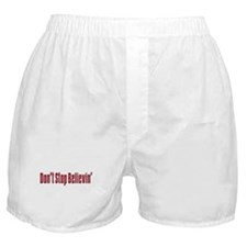 Dont stop believen(blk)T-Shirt.png Boxer Shorts
