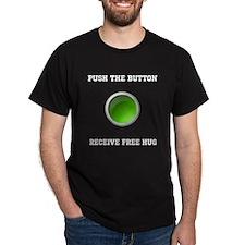 Receive Free Hug (Green Button) T-Shirt
