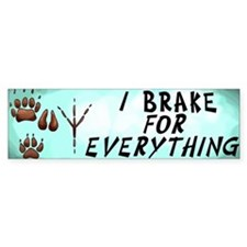 Brake for Everything Bumper Bumper Stickers