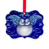 Harvest Moons Mardi Gras Santa Ornament