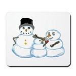 Snow family by Kristie Hubler Mousepad