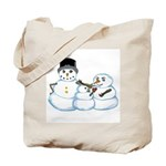 Snow family by Kristie Hubler Tote Bag