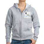 Snow family by Kristie Hubler Women's Zip Hoodie