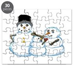 Snow family by Kristie Hubler Puzzle