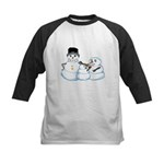 Snow family by Kristie Hubler Kids Baseball Jersey