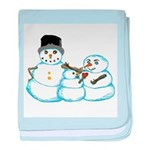 Snow family by Kristie Hubler baby blanket