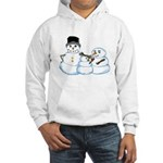 Snow family by Kristie Hubler Hooded Sweatshirt