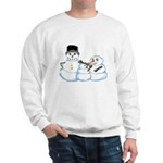 Snow family by Kristie Hubler Sweatshirt