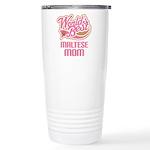 Maltese Mom Ceramic Travel Mug