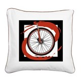 Bicycle Wheel Square Canvas Pillow
