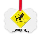 Watch for Falling Skiers Ornament