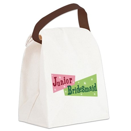 retro junior bridesmaid.png Canvas Lunch Bag