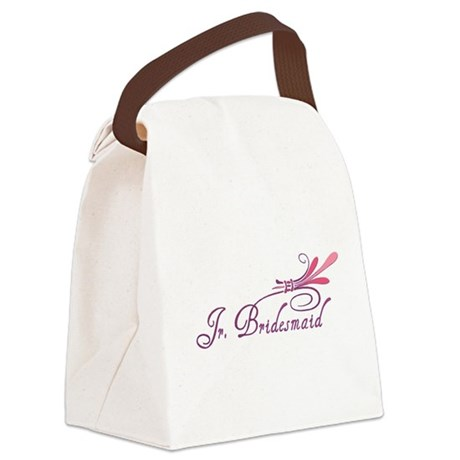 jr bridesmaid1 hat.png Canvas Lunch Bag