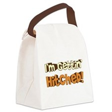 gettin hitched2.png Canvas Lunch Bag
