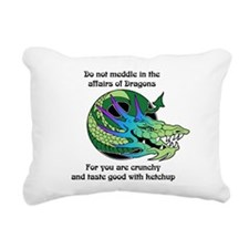 Dragon Crunchies Rectangular Canvas Pillow