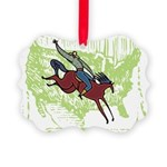 American Cowboy Picture Ornament
