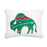 Indian Spirit Buffalo Rectangular Canvas Pillow