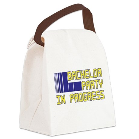 bachelor party in progress.png Canvas Lunch Bag