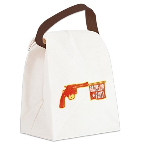 Comic Gun Bachelor Party.png Canvas Lunch Bag