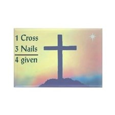 1 cross, 3 nails, 4 given rectangle magnet
