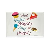 &quot;What happens at Nana's stays...&quot; Rectangle Magnet