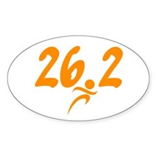 Orange 26.2 marathon Decal
