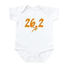 Orange 26.2 marathon Infant Bodysuit