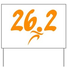 Orange 26.2 marathon Yard Sign