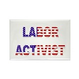 Labor Activist Rectangle Magnet
