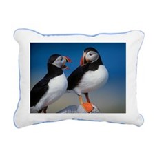 Puffin Birds Rectangular Canvas Pillow