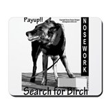 Nosework search for birch Malinois Mousepad