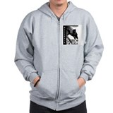 Malinois Nose work search birch Zip Hoodie