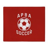 APBA Soccer Card Throw Blanket