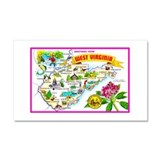 West Virginia Map Greetings Car Magnet 20 x 12