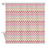Bright Chevron Shower Curtain