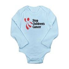 Stop Children's Cancer Logo Long Sleeve Infant Bod