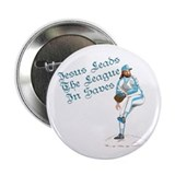 "Jesus Leads The League In Sav 2.25"" Button (100 pa"