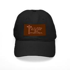 Philippians 4 13 Baseball Hat