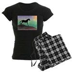 desert horse colors.png Women's Dark Pajamas