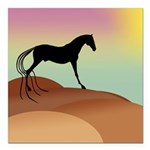 desert horse sq2.png Square Car Magnet 3